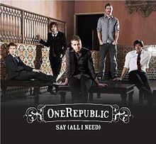 Say (All I Need) - OneRepublic