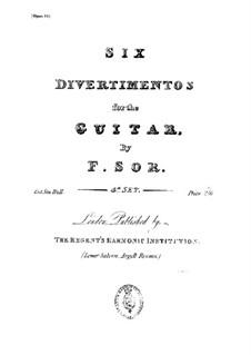 6 Divertissments Op. 2 - Fernando Sor