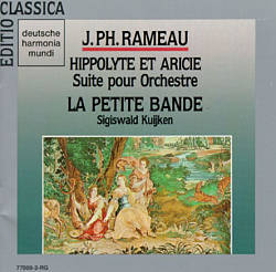 Annonce Hippolyte Et Aricie - Jean Philippe Rameau