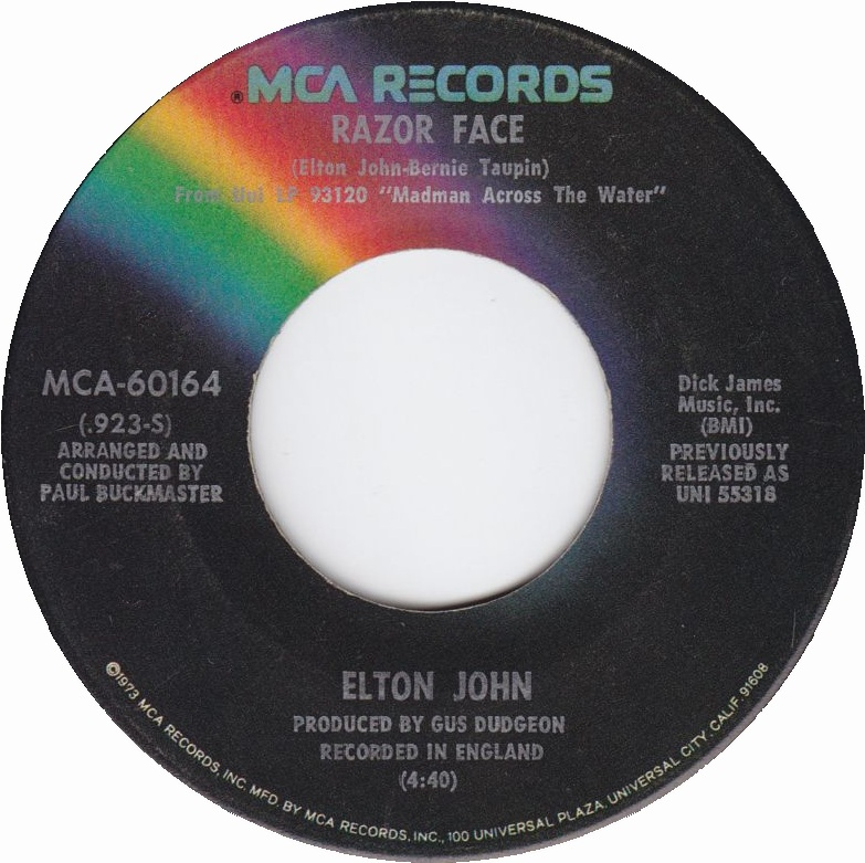 Razor Face - Elton John