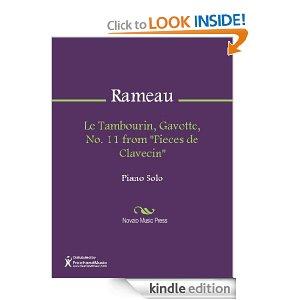 Tambourin Pieces De Clavecin - Jean Philippe Rameau