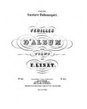 Feuilles d'album, S.165 - Liszt