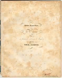 Quatre Mazurkas - Chopin