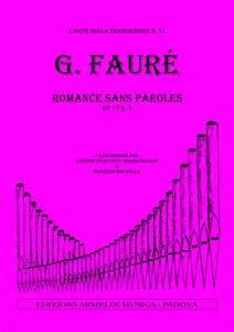 Romance Sans Paroles, Op.17 - Faure