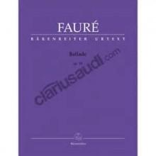 Ballade, Op.19 - Faure