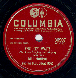 Kentucky Waltz - Bill Monroe