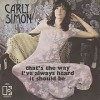 That's The Way I've Always Heard It Should Be - Carly Simon