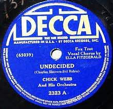 Undecided - Chick Webb